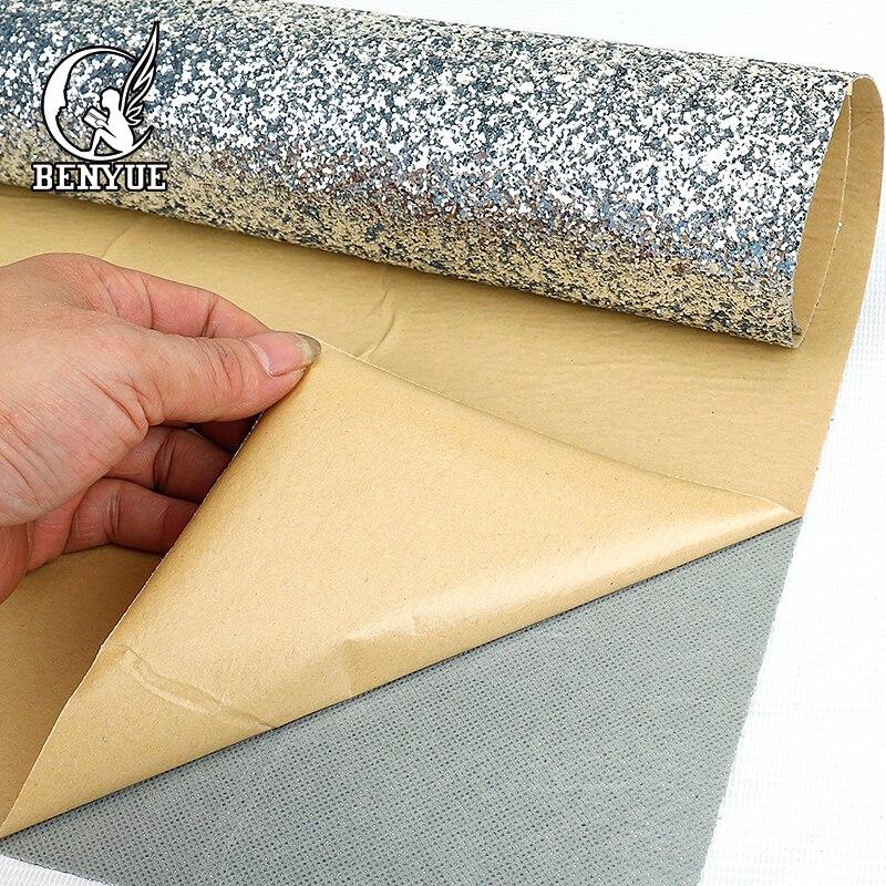 Benyue 0.69*5 m auto-adhésif chunky paillettes papier peint bricolage argent papier peint papel parede 3D