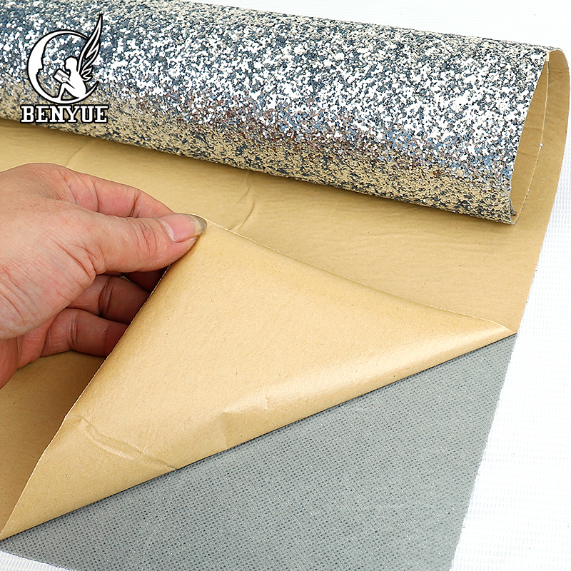 Benyue 0.69*5 M Self Adhesive Chunky Glitter Wallpaper DIY Silver Wall Paper Papel Parede 3D