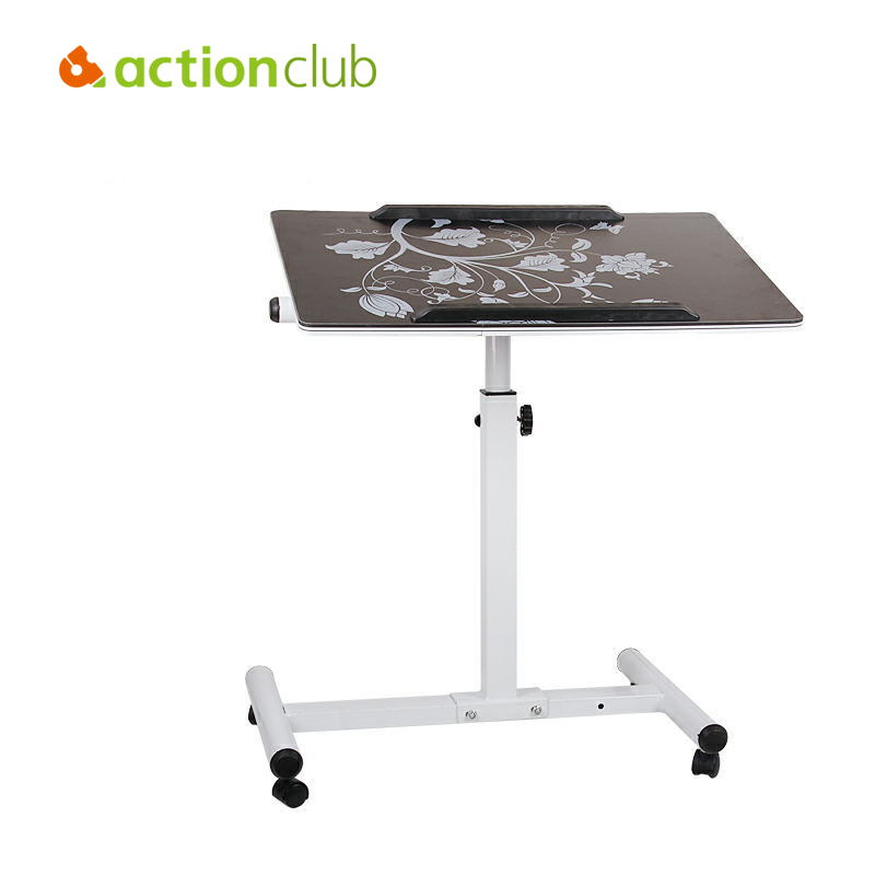 Actionclub Simple Notebook Computer Desk Bed Students Learning With Household Lifting Folding Mobile Bedside Sofa Laptop Tables hh with household bedside mobile folding lifting and rotating simple desk lazy notebook comter table bed free shipping