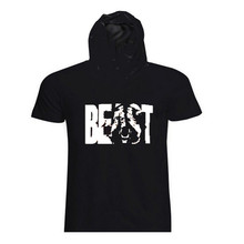 New 2017 fitness male animal muscle fitness bodybuilding hooded pure cotton short sleeve T-shirt MMA sportswear jackets
