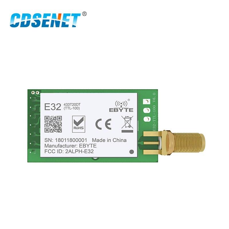 SX1278 LoRa 433 mhz 20dBm SMA-K Anschluss Wireless Transceiver E32-433T20DT UART 100 mW Fern IoT RF Sender Empfänger