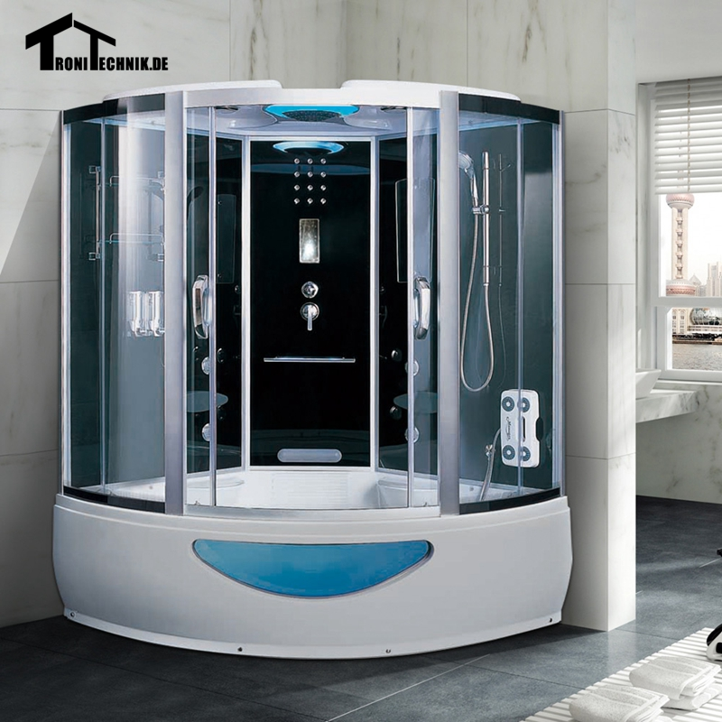 1500mm Steam Shower Cabin Massage Bath Corner Cabin
