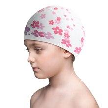 Защитный Водонепроницаемый Профессиональный практичный силикон шапочка для плавания кепка для детей Детские принадлежности для плавания Водные виды спорта