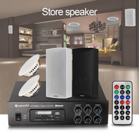 Shop Or Store Background Music Speakers With Bluetooth Power Amplifier