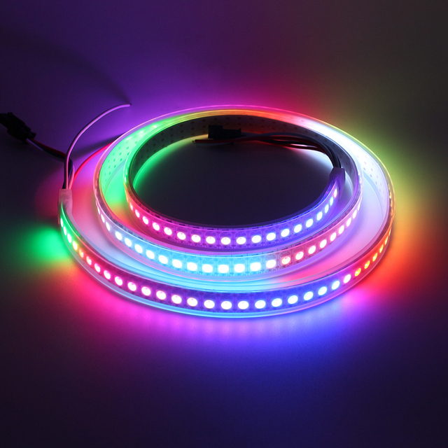 Aliexpress buy tanbaby 1m ws2812b led strip light 144 ledm tanbaby 1m ws2812b led strip light 144 ledm 5vsmd 5050 rgb full chasing color mozeypictures Gallery