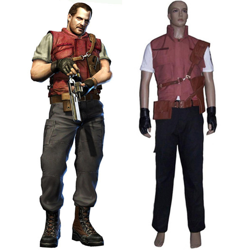 Resident Evil 5 Barry Cosplay Uniform Suit Men's Halloween Costumes Custom-made Any sizes Free Shipping