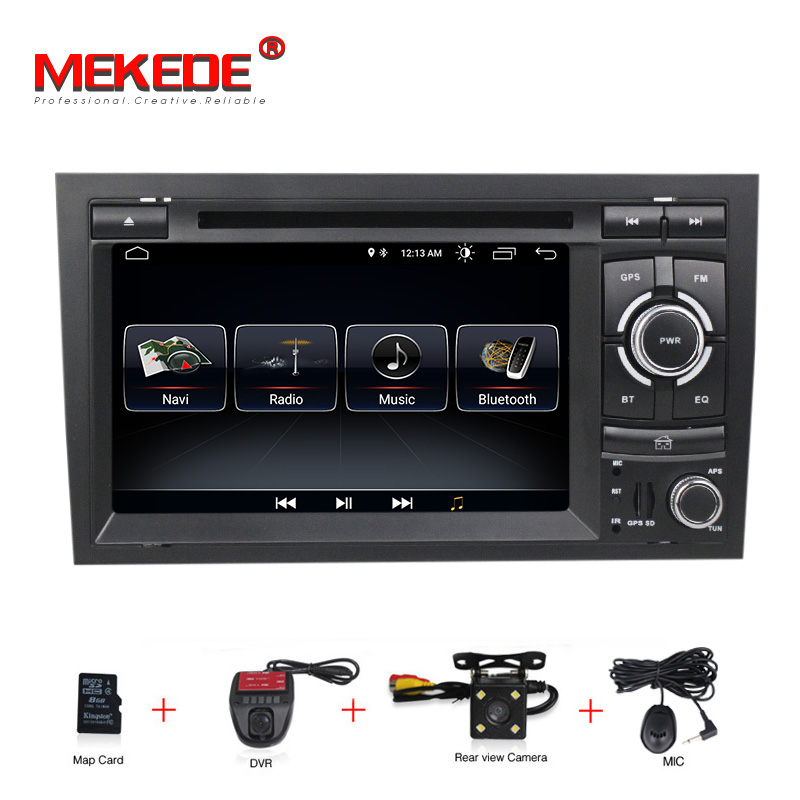 Free shipping! Android 8.0 Car DVD player radio audio GPS Navi for audi A4 2002-2008 S4 RS4 8E 8F B9 B7 With WIFI BT RDS Canbus