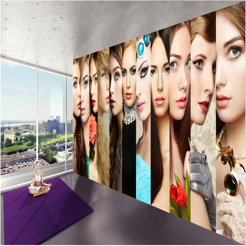 Beauty Fashion Group: Beibehang Customize Any Size Wallpaper Mural Modern Simple