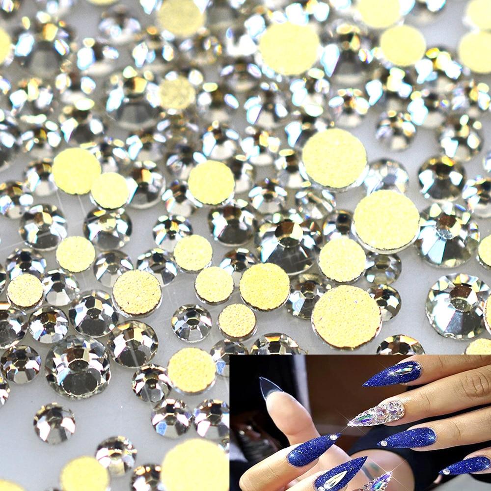 Schönheit & Gesundheit Nails Art & Werkzeuge 2018 Heißer Kristall Klare Farbe Nail Art Strass Flatback Nicht Hot Fix Strass Für Mode Dekoration Nagel Kunst Verschiedene Stile