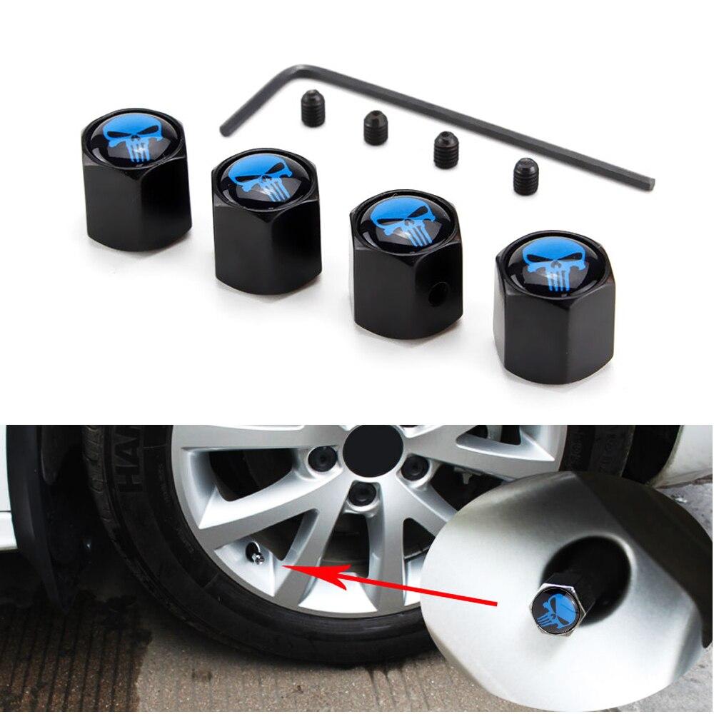 4Pcs For Peugeot Car Auto Wheel Tire Air Valve Stems Caps Dust Covers Logo