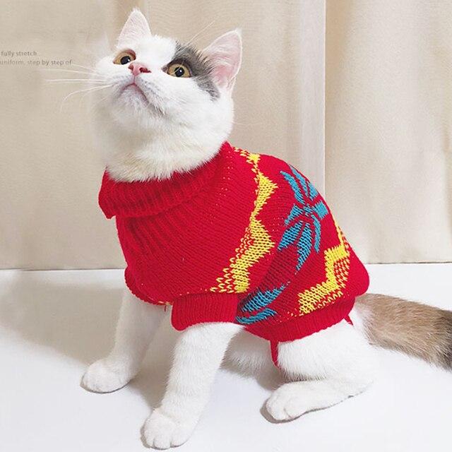 Cute Costum Winter Red Pet Clothes