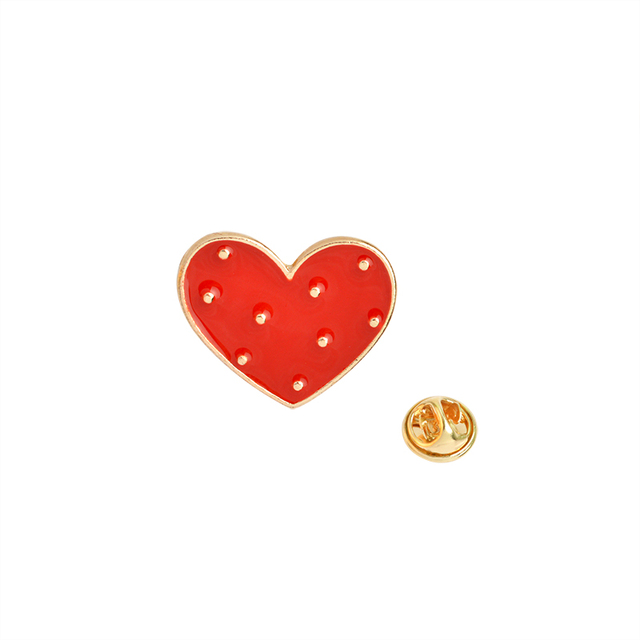 Z kreskówkowym motywem miłosnym serce emalia broszka czerwony różowy koń strzała w sercu gest przypinka płaszcz odznaka biżuteria dla dzieci kobiet
