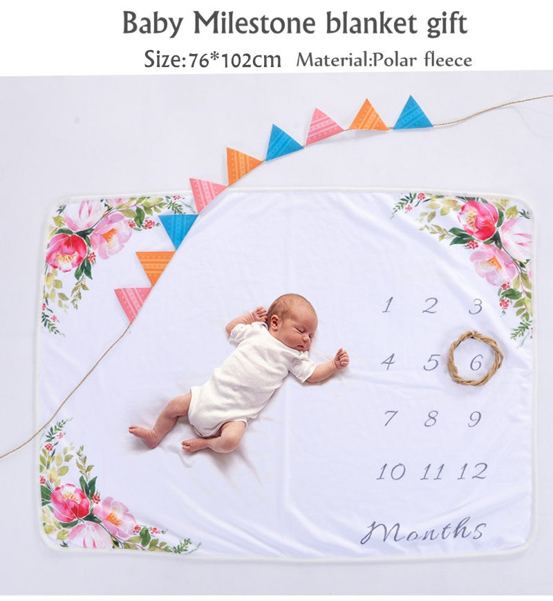 Milestone Blanket as Month to Month Photography Props font b BABY b font photography blanket props