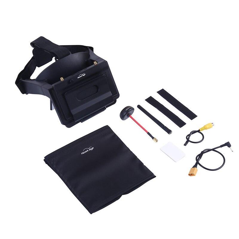 Hawkeye Piloto Pequeno monitor HD Headset Head-mounted AR de Recepção Dupla Refração Miopia 5 Polegada para FPV zangão