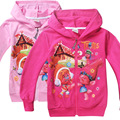 Trolls Girls Outerwear Autumn&winter Cartoon Patterns Children Jackets Girl Coat Hooded Kids Jacket For Teenage Clothes Monya