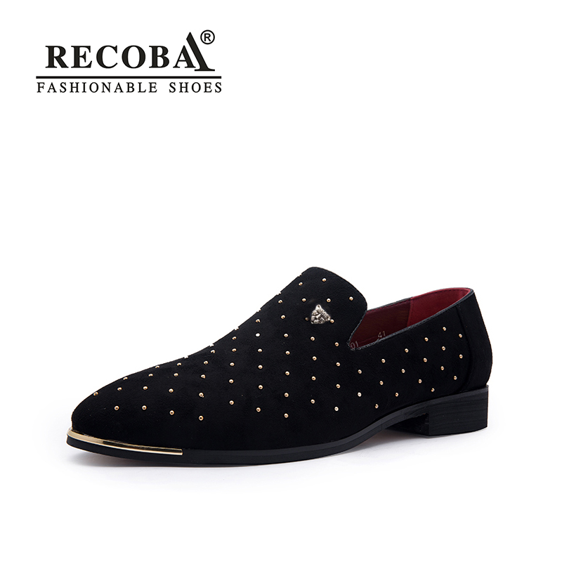 Men gold spike plus size black navy suede leather penny loafers moccasins slip ons boat shoes smoking wedding dress shoes
