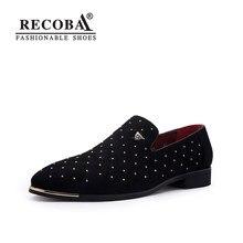 e0bffbb13 Homens pico de ouro plus size navy preto camurça mocassins de couro  mocassins ons do deslizamento de barco sapatos sapatas de ve.
