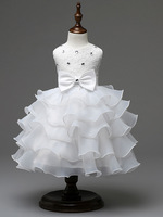 Fashion Glitz Red Christmas Dress Baby Party Wear Frocks First Communion Dresses For Girls