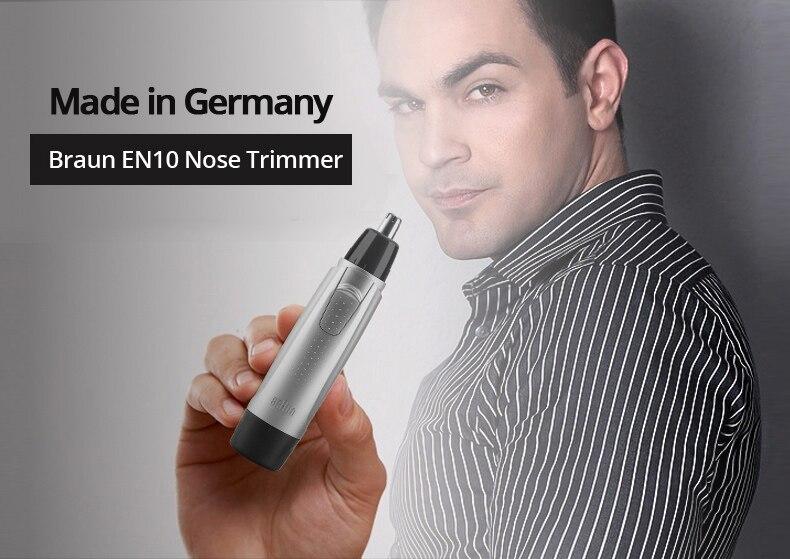 2dd2d49319b90 Braun Exact series EN10 Ear   Nose Trimmer Power face Hair Clipper ...