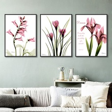 Nordic Transparent Purple Flowers Painting Simple Canvas Wall Art Prints Modern Home Decoration Living Room Modular Pictures