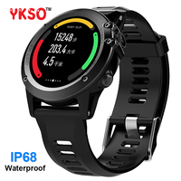 YKSO IP68 Профессиональный Водонепроницаемый smart watch Android 4,4 gps часы H1 Носимых устройств Поддержка 3g SIM карты smartwatch