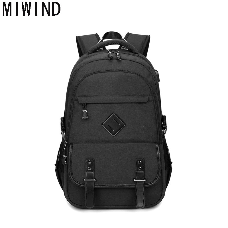 MIWIND  2017 Men's Backpacks Unisex Notebook School Bags For Teenagers Oxford Business Mochila Travel  T1162 like a virgin secrets they won t teach you at business school
