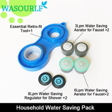 3L 6L 8L water saving faucet aerator  24mm male 22mm female thread tap device bubbler 1 detach tool free shipping