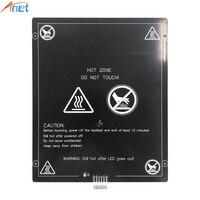 Anet 12V 24V 220x270mm 300*300mm alüminyum Heatbed ısıtma yatak plakası 3D yazıcı E10 sıcak yatak ısıtma platformu