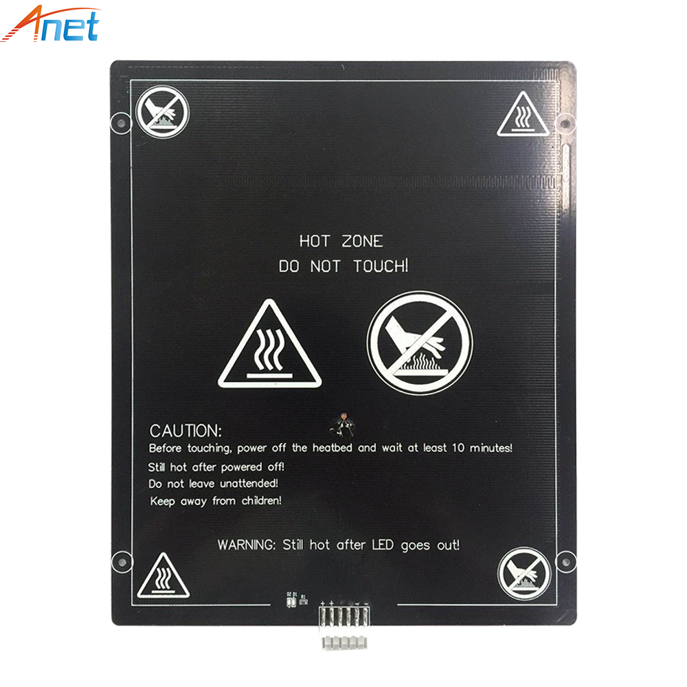 Anet 12V <font><b>24V</b></font> 220x270mm 300*300mm Aluminum <font><b>Heatbed</b></font> Heating Bed Plate For 3D Printer E10 Hot Bed Heating Platform image