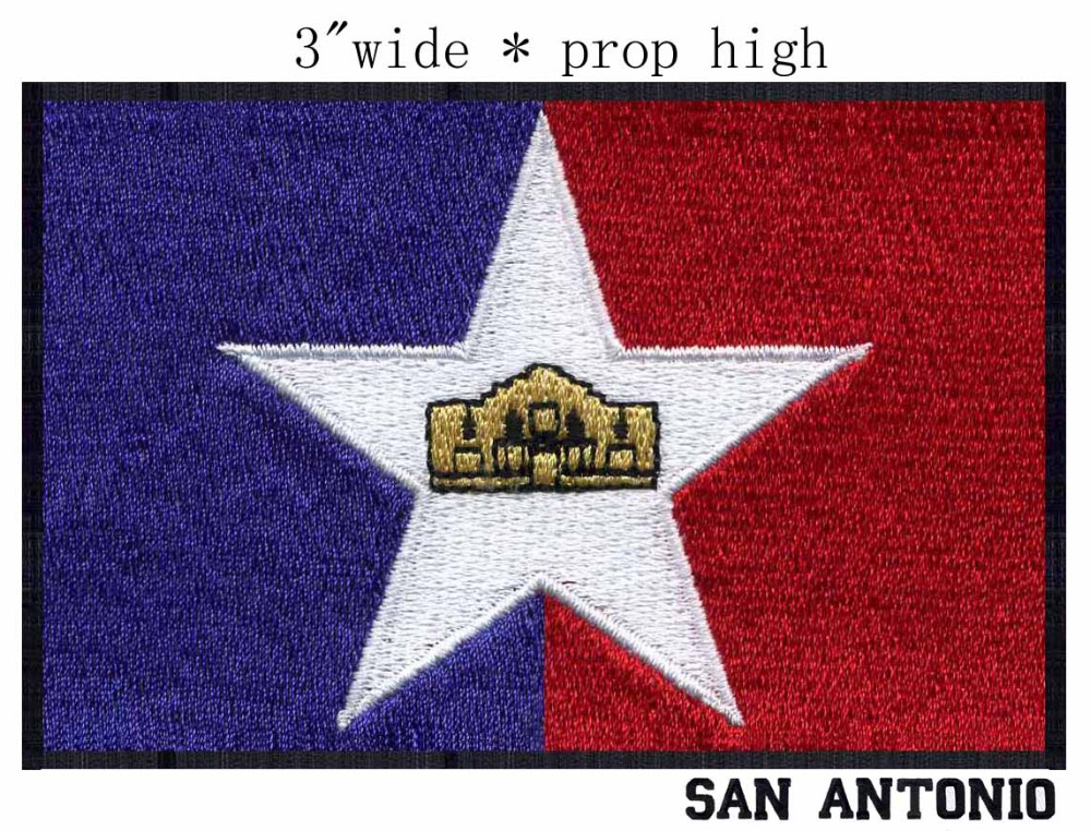 San Antonio Texas Usa Flag Embroidery Patch 3 Wide Shippingbigger