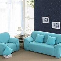 16 Colours Sofa Cover Stretch Fabric Elastic Corner Slipcover 1/2/3/4 Seater Loveseat Sofa Furniture Cover 1PCS Machine Wash