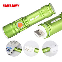 Waterproof Adjustable LED Zoom 3000LM MINI USB Rechargeable Flashlight Torch Portable Cycling Bicycle Bike Front Head Light