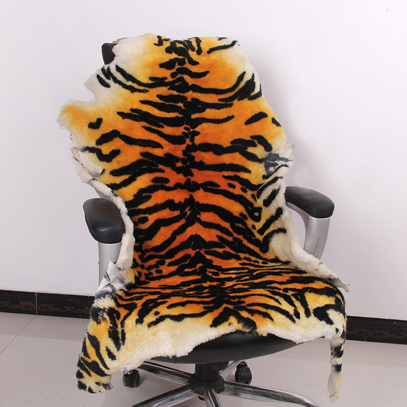 tiger design 100% Real Sheepskin Wool Luxury Thicken Soft Shaggy Area Rugs and Carpet for Living Room Chair Cover Home Matstiger design 100% Real Sheepskin Wool Luxury Thicken Soft Shaggy Area Rugs and Carpet for Living Room Chair Cover Home Mats
