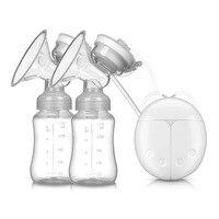 ZIMEITU Single/Double Electric Breast Pump With Milk Bottle Infant USB BPA Free Powerfun Breast Pumps Baby Breast Feeding
