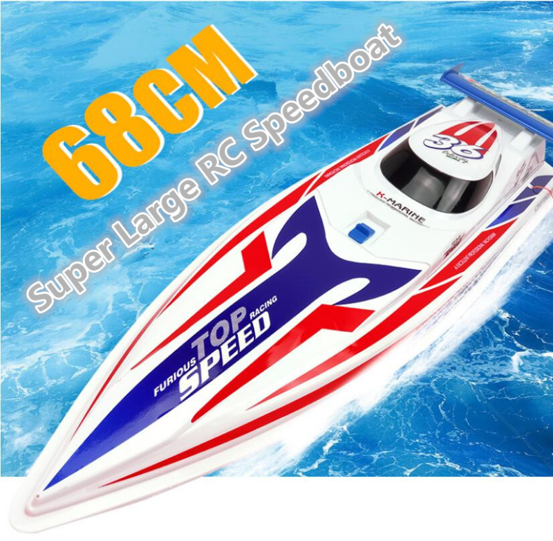 Us 212 0 20 Off Aliexpress Com Buy Newest Remote Control Electric Yacht Model Rc Boat 68cm Large Size Double Motor Waterproof Speed Boat High