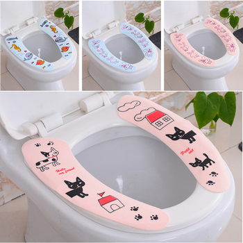 Toilet Seat Cover Home Paste Toilet Pad Printing Washable Reusable Toilet Seat Universal Toilet Pad Waterproof Cushion Туалет