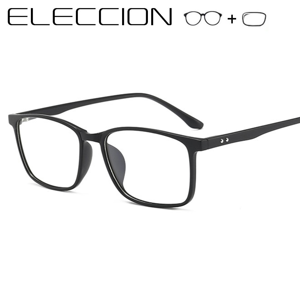 ELECCION TR90 Prescription Glasses Men Women 2019 New Square Eyewear Myopia Eyeglasses Women Optical Frames With eye Lenses(China)