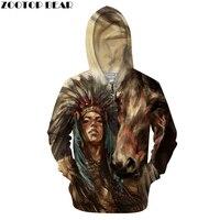 Horse 3D Zip Hoodie Men Print Hoody Zipper Tracksuit Women Sweatshirt Pullover Coat Casual LongSleeve Native DropShip ZOOTOPBEAR