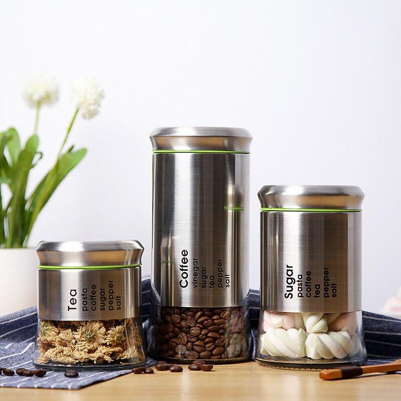 400ml 600ml 850ml Coffee Jar Gl