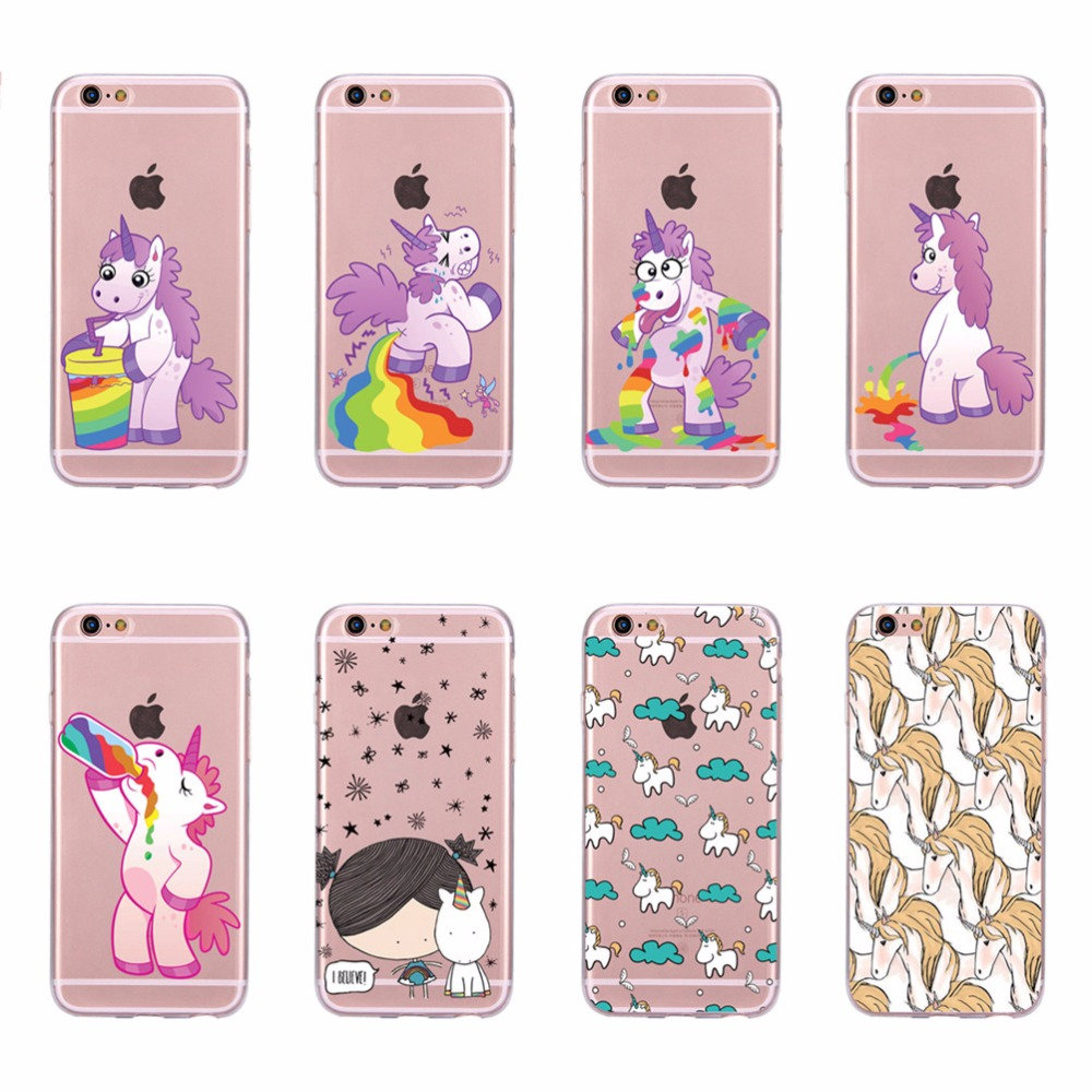 TPU Silicone Soft Cell Phone Cases for Iphone 6 plus Cute