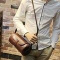 Qualidade superior saco de ombro do vintage dos homens de couro crazy horse PU homens messenger bags casual bolsa de couro marca designer crossbody