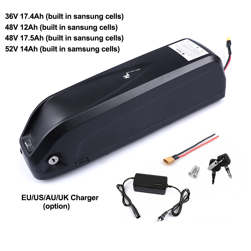 Electric Bike Battery Pack 52V 14Ah 48V 12Ah 17 5Ah 36V 17 4Ah built in Samsung