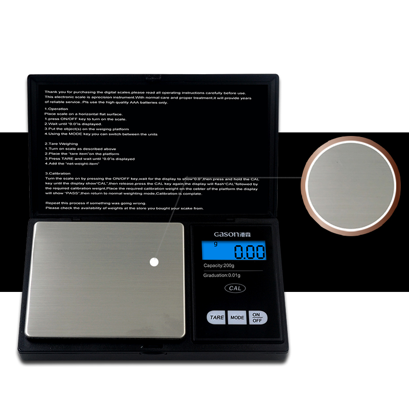 Z2 Jewelry Scale For Gold Weight Hight Precision Mini Pocket Electronic Digital Balance LCD Display Grams 200g 0 01g in Kitchen Scales from Home Garden