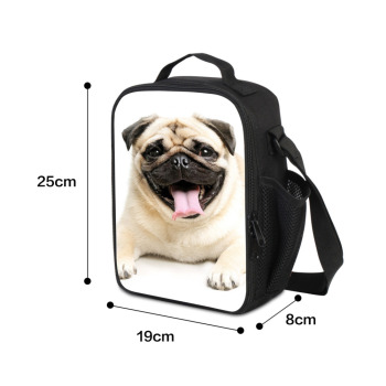 Pug Dog Printed School Bag with Cooler Pen Bags Set for Children Cute Book Bag Satchel Girls Lovely Backpack Pattern Pencil Case 1