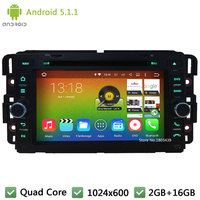 Quad Core Android 5 1 1 HD Car DVD Player GPS Stereo Radio For GMC Yukon
