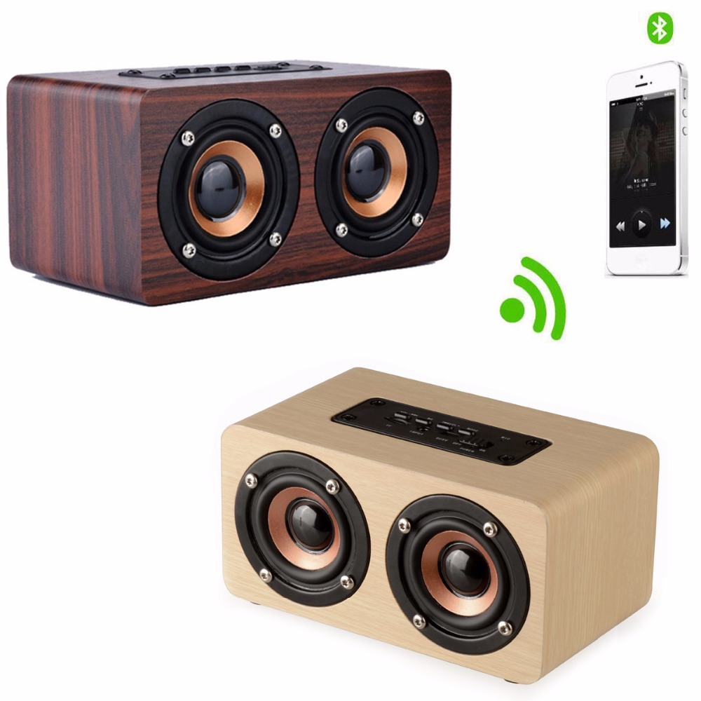 Xiaomi Bluetooth Speaker Portable Mini: New Arrival 10W 2000mAH Mini Wooden Portable Wireless Bluetooth Speaker Subwoofer For Huawei