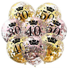 60 50 40 30 Years Old Birthday Balloon Confetti Inflatable Baloon Party Decoration Adult