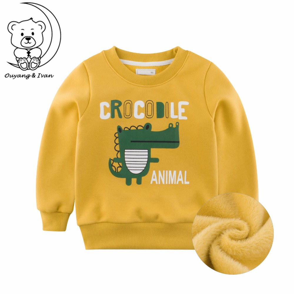 Ouyang&Ivan Winter New Boy Fleece Warm Yellow Sweatshirt Casual Crocodile Pattern Kid Sweatshirt Spring Children's Pullover Tops-in Hoodies & Sweatshirts from Mother & Kids on Aliexpress.com | Alibaba Group