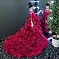 Baby kleidung Sommer Kleid Festa Unicorno Babe Mädchen Hochzeit Vestidos Casual Mädchen Kleider Blume Roten Kleid für Kleine Mädchen|Kleider|   -