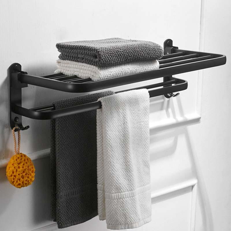 Rozin Gold Polisehd Bathroom Towel Rack Wall Mounted Towel Shelf Holder